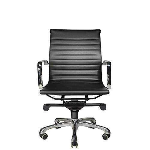WOBI OFFICE Robin Lowback Chair, Black Leather Review