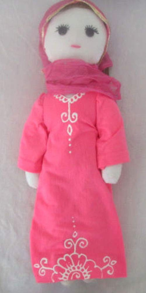 Muslim Doll With Hijab Pink Abaya Hijabi Doll Girls Eid Gift