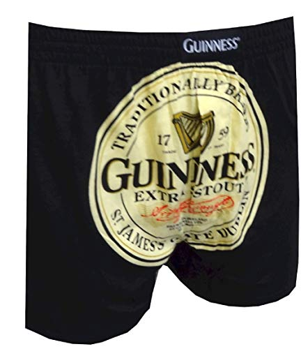 Guinness Extra Stout Trademark Label Boxers for men (Small)