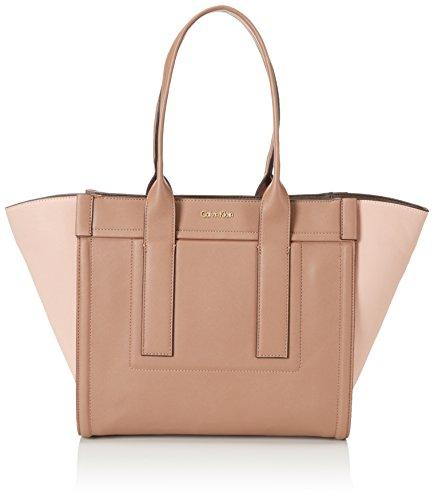 Calvin Klein Jeans Women's MIRJ4N LARGE TOTE Top-Handle Bag Brown Braun (BROWNIE/COSMETIC PINK/ESPRESSO 909 909)
