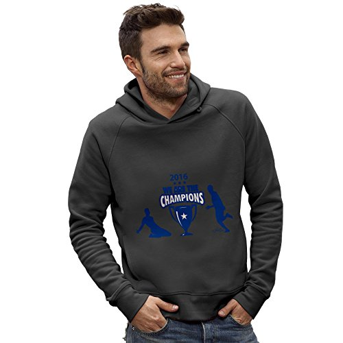 Twisted Envy Men's LCFC 2016 We Are The Champions Dark Grey Hoodie Medium