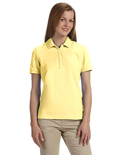 - Women's Slim-cut Ashworth Classic Solid Pique Polo, Light Yellow, M