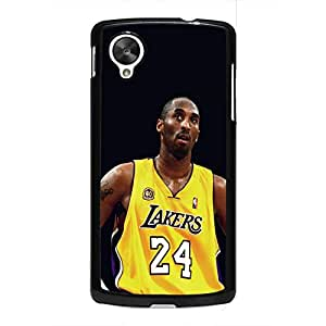 Vintage Style Kobe Bryant Phone Case Cover For Google Nexus 5 Black Hard Case AIR53