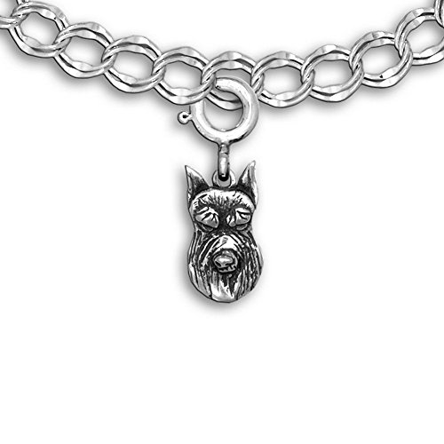 Sterling Silver Schnauzer Charm for Charm Bracelet by the Magic ()