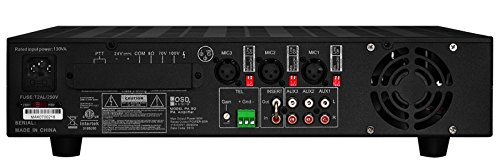 OSD Audio PA-90; Commercial 70V/100V/8 ohm Mono Integrated Amplifier/Mixer with 7 Inputs (3 Mic, 1 Telephone & 3 Aux)