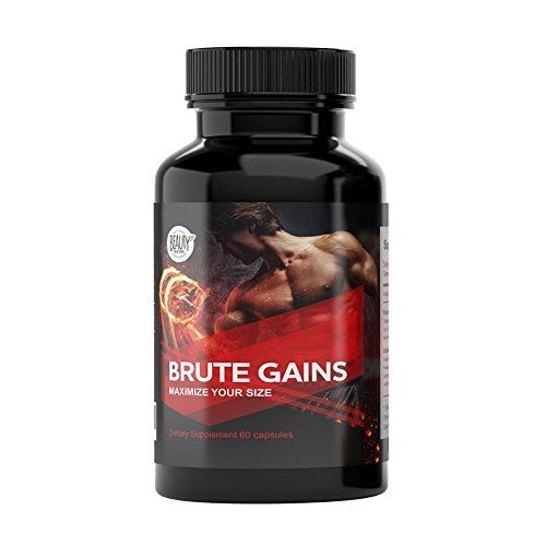 Brute Gains - Maximize Testosterone Production, Enhance Nitric Oxide, Increased Muscle Building and Stamina, Improved Energy, Male - Testosterone Maximize