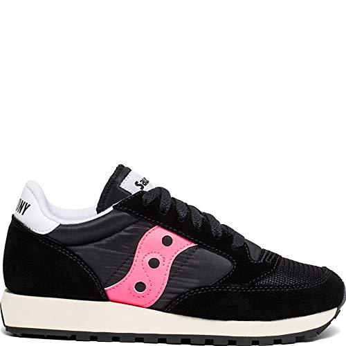 Saucony Women's Jazz Original Sneaker, Black/Pink, 7 M US