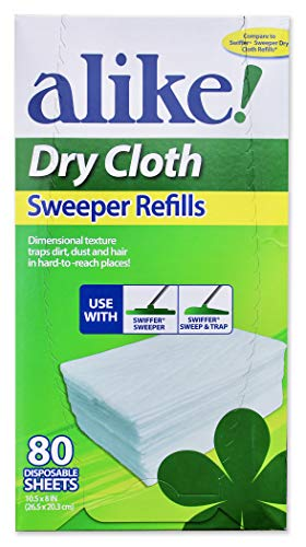 80 Count Refill - alike Dry Sweeper Refill Cloths, 80 Count