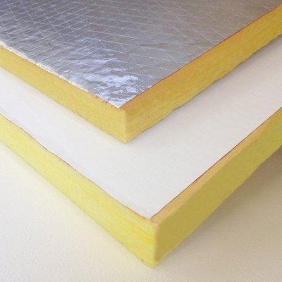 "2"" Fiberglass Duct Board ASJ White Faced, 24"" x 48"" sheet..."