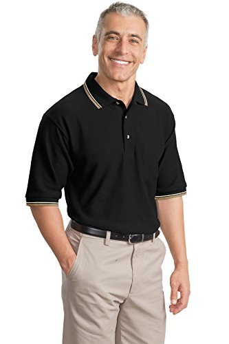 Cool Mesh Polo (Port Authority Men's Port Authority Cool Mesh Polo with L Royal/ Khaki/ Navy)