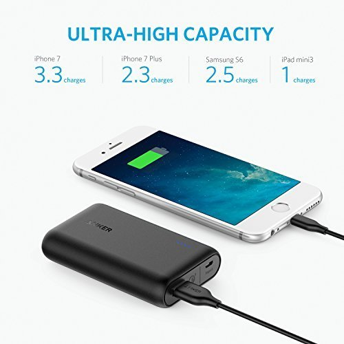 Anker PowerCore Speed 10000 QC, Qualcomm Quick Charge 3.0 Portable Charger with Power IQ, Power Bank for Samsung, iPhone, iPad and More