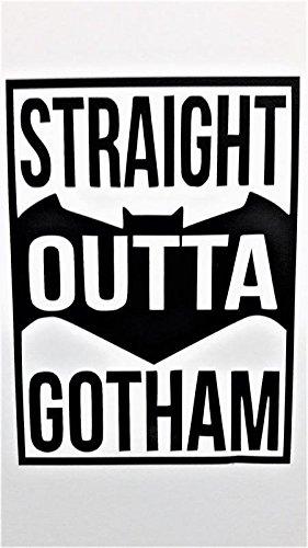 Chase Grace Studio Batman Inspired Straight Out of Gotham Superhero Vinyl Decal Sticker|Black|Cars Trucks Vans SUV Laptops Wall Art|5.5