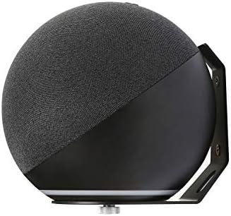 Alexa Devises Wall Mount Holder, Space-Saving Alexa Holder Wall Mount, for Multi Amazon Home Speakers, Fits Echo Dot 4th Generation, Dot 3rd Gen, Echo 4th Generation, Echo Spot, Echo Studio (Black)