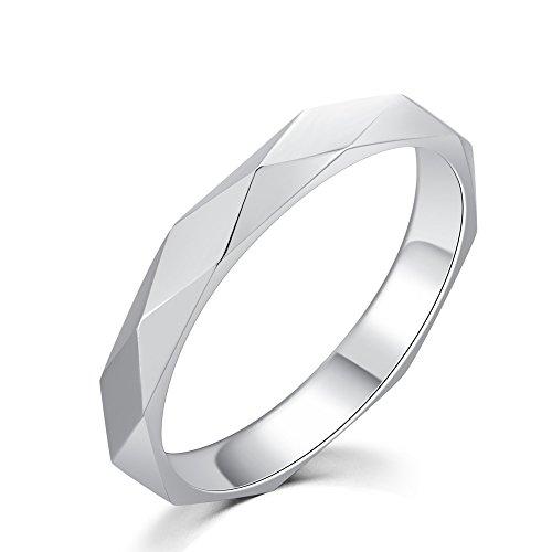 Or blanc 18ct 750Diamant Mariage Engagement Proposition Bague de mode