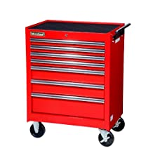 International VRB-2707RD 27-Inch 7 Drawer Red Tool Cabinet with Ball Bearing Slides