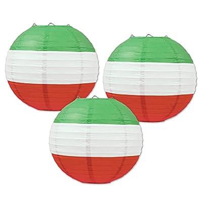 Red, White & Green Paper Lanterns