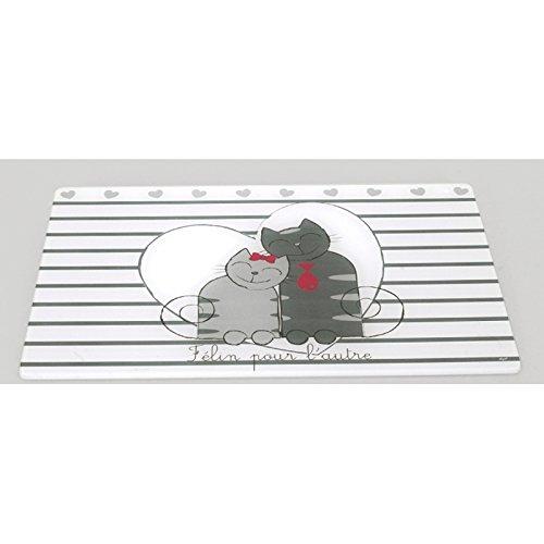 Planche /à d/écouper en verre L30 cm x l20 cm F/élin D/écoration de cuisine chats