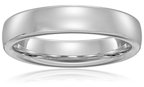Modern Comfort-Fit 14K White Gold Band, 4.5mm, Size 9