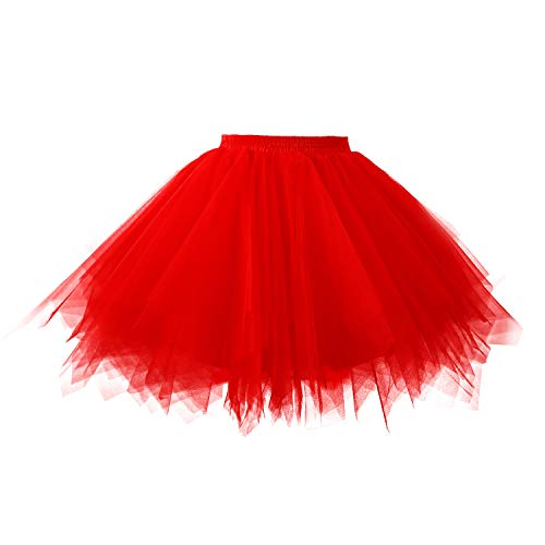 c4149eddac red adult tutu - 3. $19.99. Topdress Women's 1950s Vintage Tutu Petticoat  Ballet Bubble Skirt ...