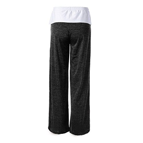 Della Sportivi Tuta Nero Training Bicolore Legging Accogliente Pantaloni Donna Ragazze Festa Style Vita Elastica Leggero Eleganti Fashion Coulisse Lunga EqfRxnw