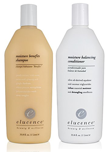 Elucence Moisture Benefits Shampoo and Balancing Conditioner Set, 33.8-Ounce