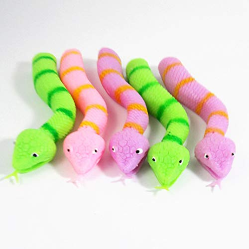 Teydhao Bendable Forked Tongue Snake Hand Finger Puppet
