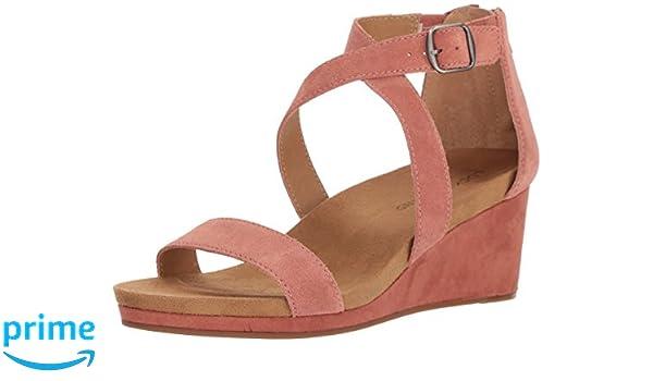 Lucky Brand Women's Kenadee Wedge Sandal, Canyon Rose, 5.5 M