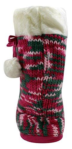Enimay Kvinna Mjuk Fuzzy Hus Tofflor Bekväm Fleece Känna Inneskor Rosa 3