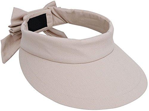 Livingston Summer Hat Womens Wide Brim SPF 50+ UV Protection Sun Visor Hat,Beige