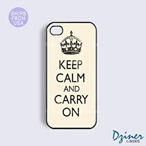 MEIMEIiPhone 4 4s Case - Keep Calm Carry on Old iPhone CoverMEIMEI
