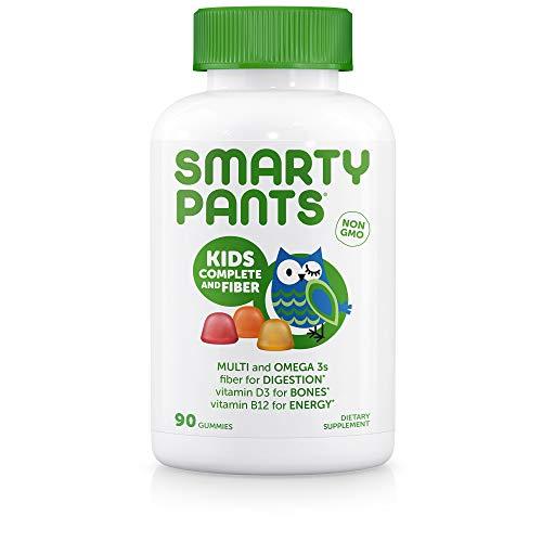 SmartyPants Kids Complete and Fiber Gummy Vitamins, 90 Count