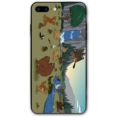 iPhone 7/8 Plus Brickleberry Cartoon Forest Park Animals Cases for Apple -