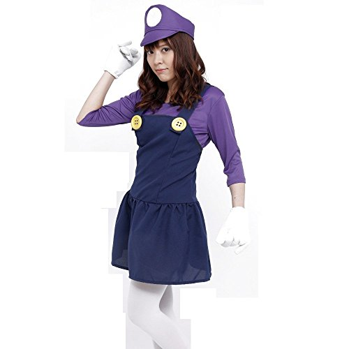 PATYMO Powerful Girl Costume Purple - Teen/Women's XS/S Size ()