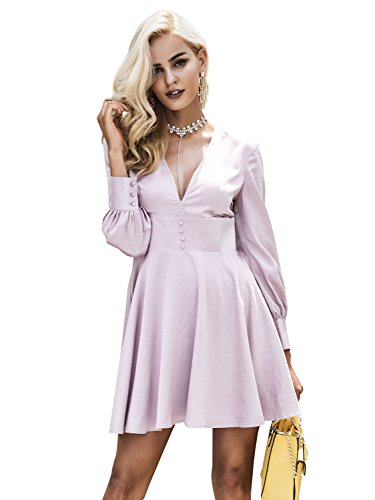 Zipper Satin Wedding Dress - 9