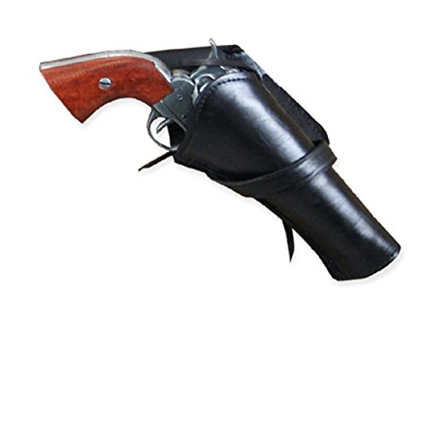 Historical Emporium Men's Right Hand Plain Leather Western Cross Draw Holster Black