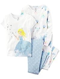 Carter's Little Girls' 4-Piece Snug Fit Cotton Pajamas