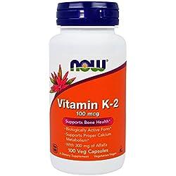 NOW Vitamin K-2 100 mcg,100 Veg Capsules