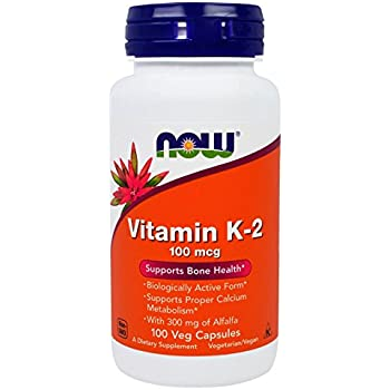 NOW Vitamin K-2 100 mcg,100 Veg Capsules