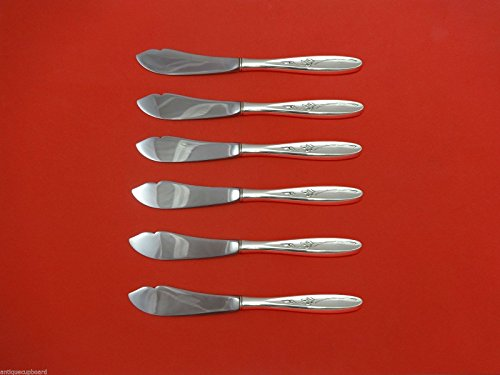 Rose Solitaire by Towle Sterling Silver Trout Knife Set 6pc. Custom Made 7 - Solitaire Knife Set