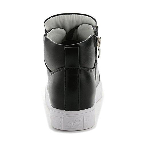 Vrouwen Platte Mode Sneaker Verhoogde Hoogte Lace-up Platform Casual Sport Loopschoenen Zwart
