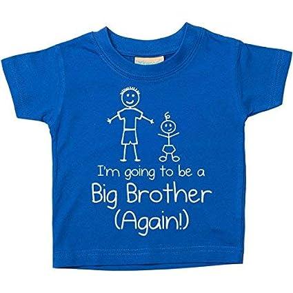 0-6 mois bleu Im Vais /être a Big Brother Again Bleu T-shirt b/éb/é en /âge Bas enfants disponible en tailles 0-6 mois pour 14-15 ans nouveau b/éb/é Brother cadeau Bleu