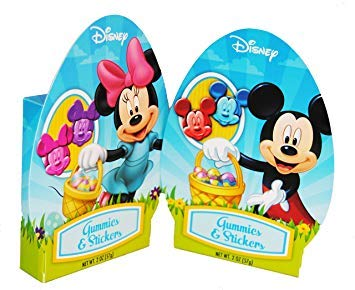 Easter Mickey or Minnie Gummy Candies with Stickers (Mickey - Cheeky Mouse