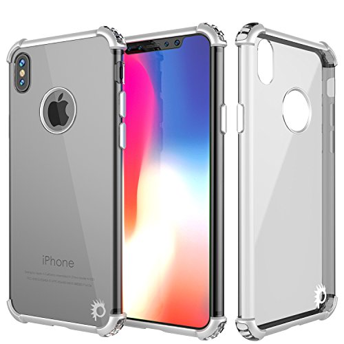 iPhone X Case, Punkcase [BLAZE SERIES] Protective Cover W/ PunkShield Screen Protector [Shockproof] [Slim Fit] for Apple iPhone 10 - Silver Blaze X