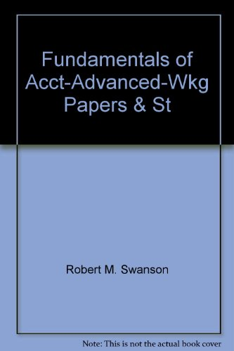 - Fundamentals of Acct-Advanced-Wkg Papers & St