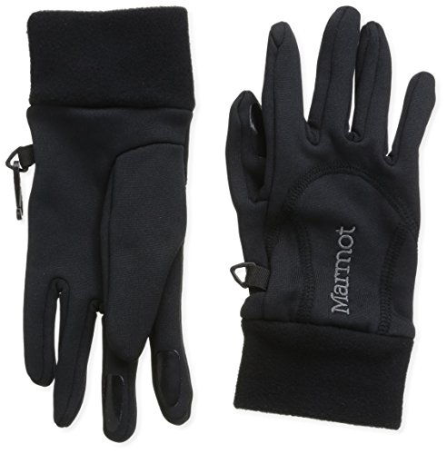 (Marmot Women's Power Stretch Glove, Black, Medium)