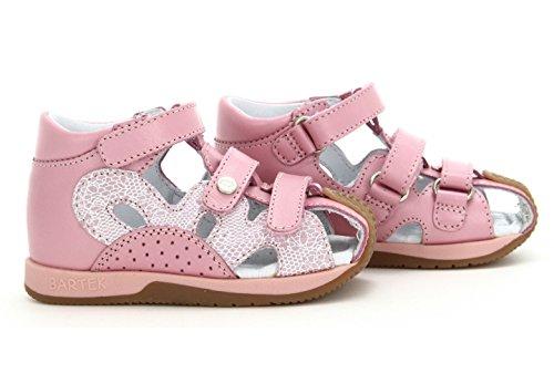 Bartek Girls Leather Fisherman Ortho Sandals 81021//1FU Light Pink Toddler//Little Kid