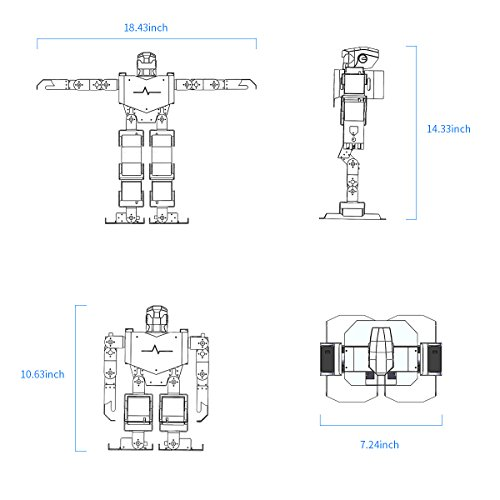 LewanSoul H3S 16DOF Biped Humanoid Robot Kit with Free APP, MP3 Module, Detailed Video Tutorial Support Sing Dance(Assembled) by LewanSoul (Image #8)