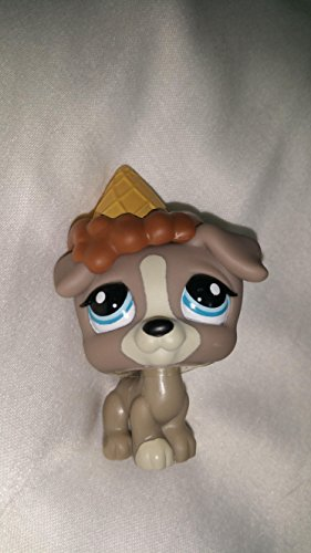 Jack Russell #1832 (Gray, Blue Eyes) - Littlest Pet Shop (Retired) Collector Toy - LPS Collectible Replacement Single Figure - Loose (OOP Out of Package & -