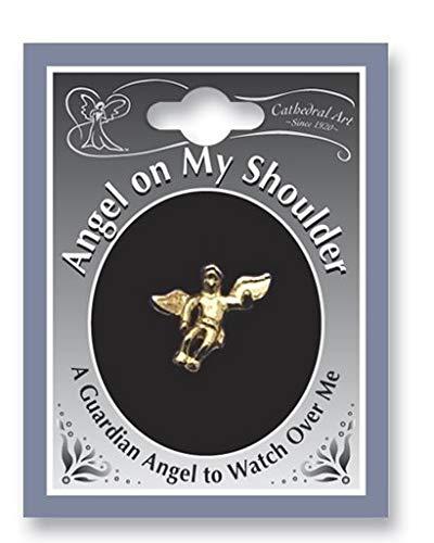 CA Set of Six Guardain Angel On My Shoulder Lapel Pins - Inspirational 0.5