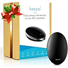Keezel VPN Portable Router: for Wireless Internet Connection with Built in Firewall – Premium VPN Router That Creates Online Security and Privacy on Any Wi-Fi Network - Travel Power Bank Included